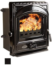 The Artisan Boiler Enamel Insert Stove  - available in Matt Black, Brown Enamel & Black Enamel