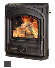 The Artisan Insert Stove - available in Matt Black, Brown Enamel & Black Enamel